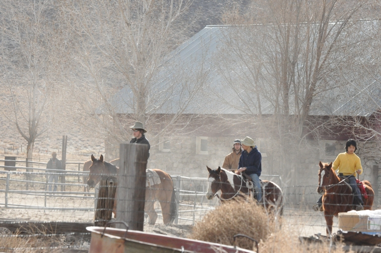 Novice cowboys joining the cattle drive.