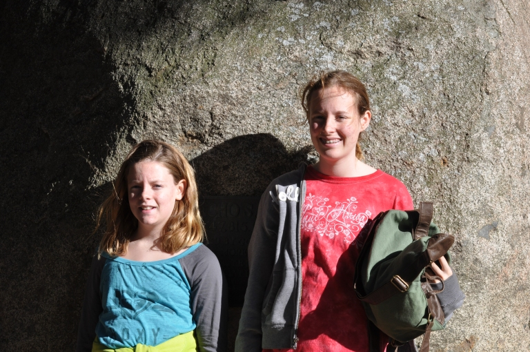 Emily and Claire at Adobe House, Santa Rosa Plateau.