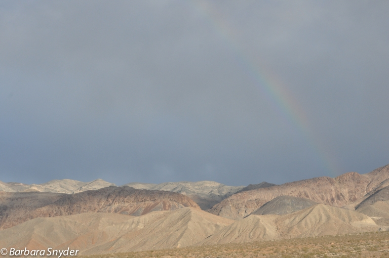 Rainbow on east side of valley