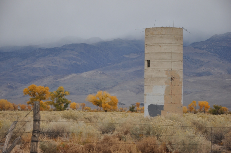 Abandoned silo where once was a farm. This is a common site throughout the Owens valley.