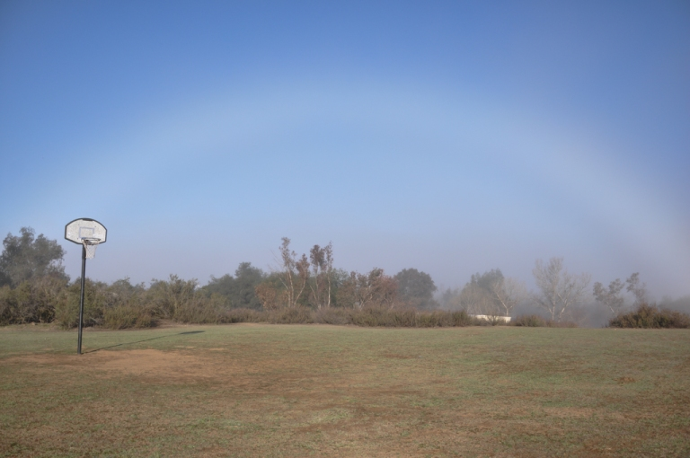I've never seen a fogbow before, but I kept being drawn to this strange light to my left - then I saw the bow made by the different air pressures as the fog burned off (I guess).