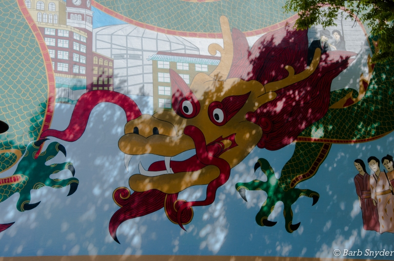 Chinatown in Seattle, lovely sunny day, unusual weather for Seattle ;-)