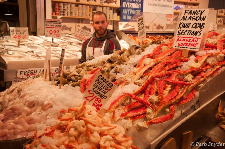 Of course, many fish and crabs, oysters. Looking forward to the raw oysters in Bellingham.