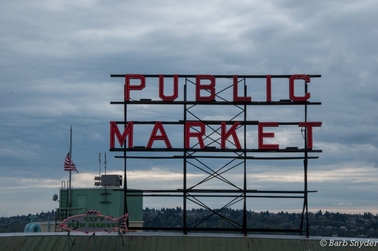 The famous Pike Place Market