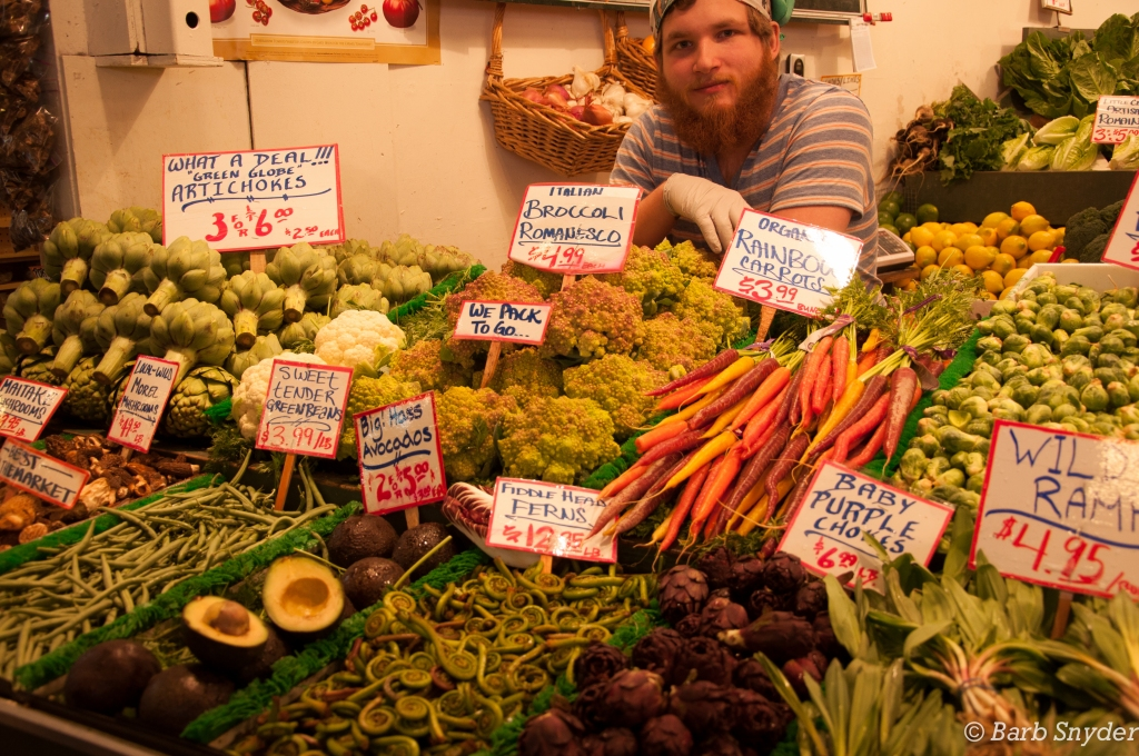 Veggies galore - this seller was a ham.