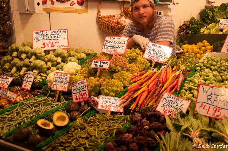 Veggies galore - this seller was a ham.