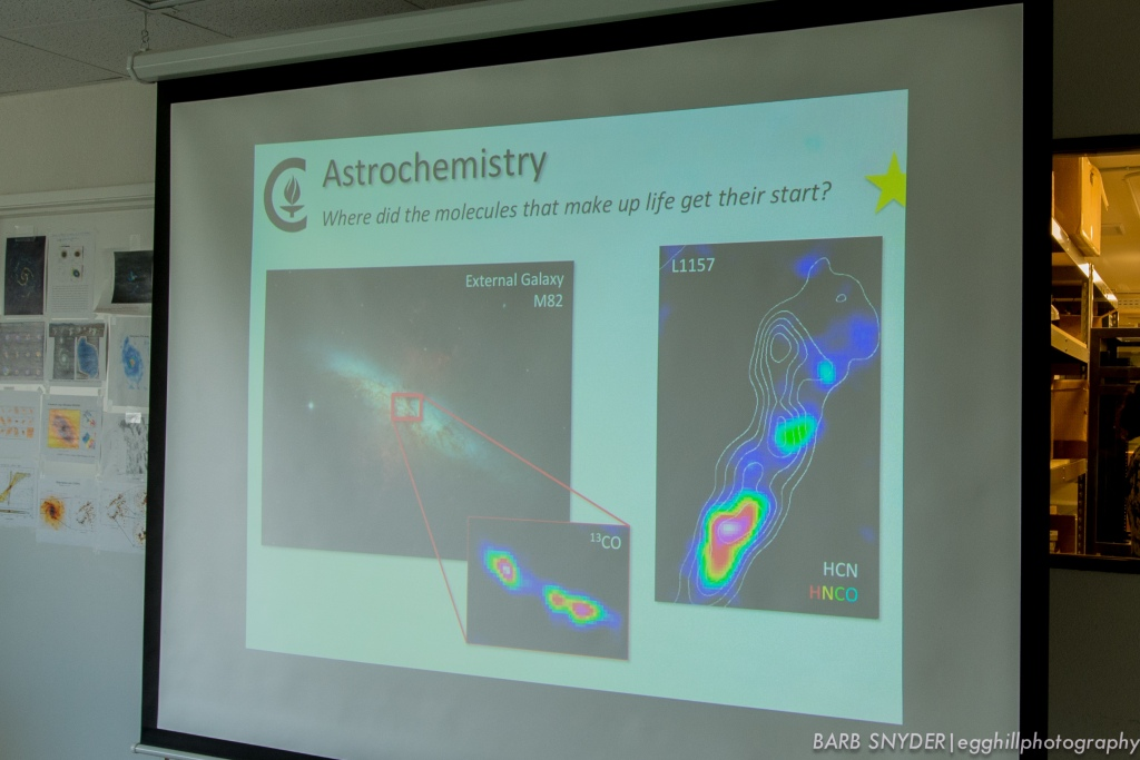 The Hubble Telescope takes the pretty pictures, but CARMA detects the elements.