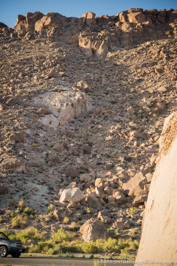 These boulders mark the end of the volcano spew from 750,000 years ago.