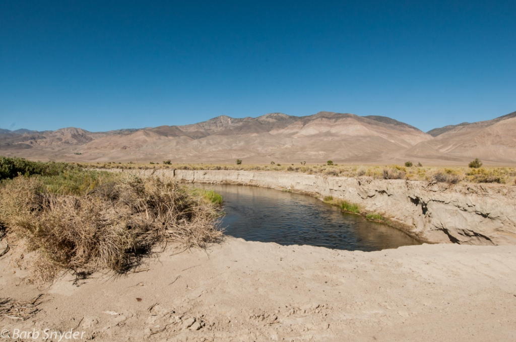 The Owens River. The banks are washed-out sand and I'm right on top of it.