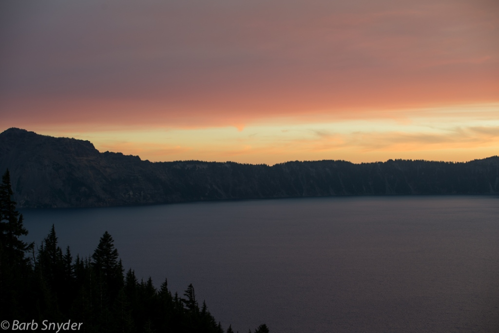 Smoke from wildfires clouded the sunset.