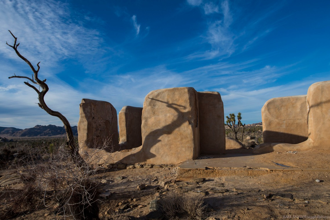 What remains of the adobe ranch house.