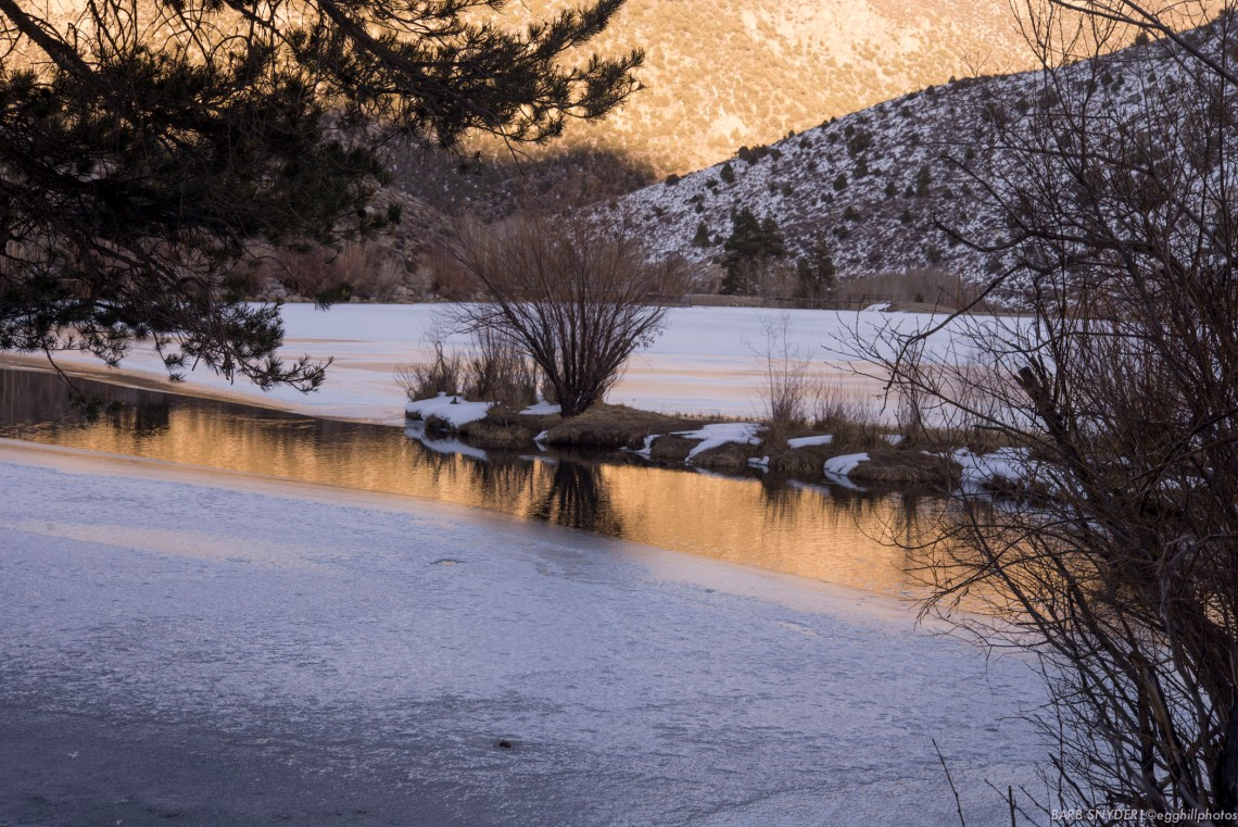 One of the Los Angeles water intakes. Still mostly frozen, not quite ready for anglers.