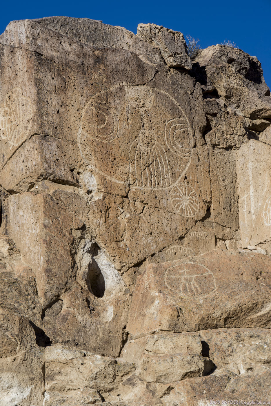 I always see spaceships when visiting the petroglyphs!
